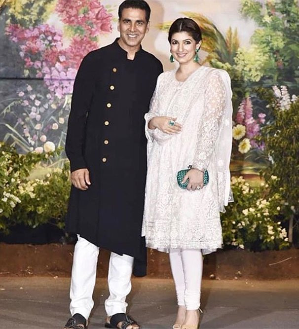 twinkle khanna at sonam's wedding reception