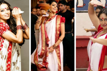 Durga Puja Hairstyles for Festival
