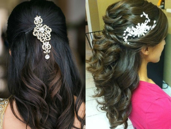 Half up and down hairstyle