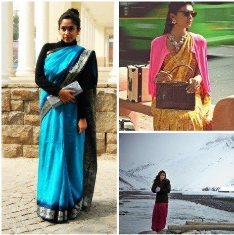 Sweaters to wear on saree
