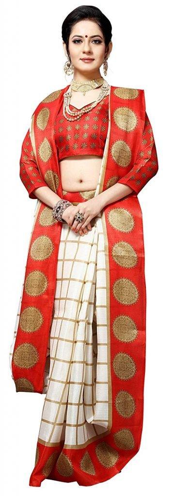 Durga Puja Special Saree with Blouse